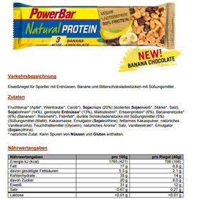 PowerBar Natural Protein - Nutrición deportiva - Banana Chocolate (Vegan) 24 x 40g